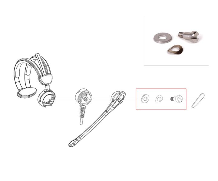Screw-Kit for Overhead Comfort-Headset (S/L)