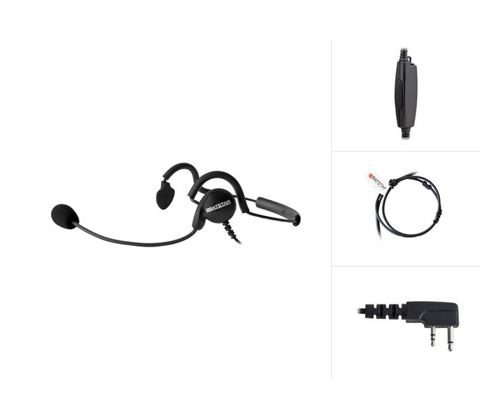 Behind-The-Head Headset with PTT47 for Icom IC-F3 / IC-F4...