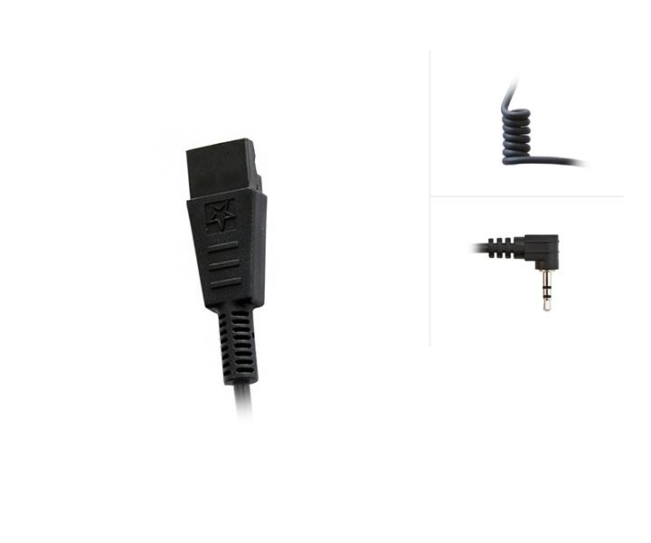 QD-Systemconnector to 2.5mm / 3-pole Audio Connector