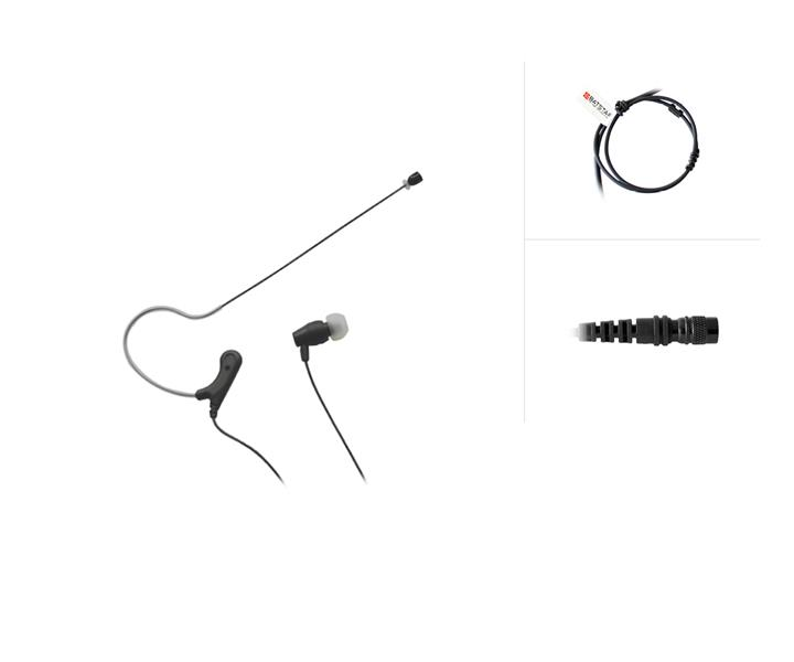 Micro Lightweight Ear-Set to 6-pin HiRose-Systemconnector