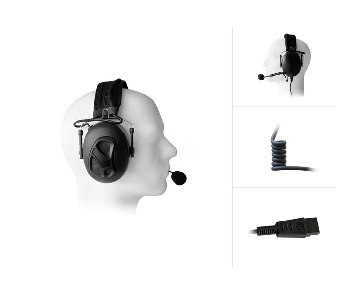 Dual Earmuff Headset with Noise Cancelling for QD-Systems