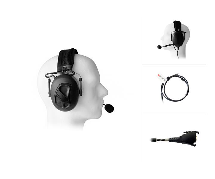 Dual Earmuff Headset with Noise Cancelling for Vocollect