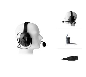 Dual Earmuff Behind-The-Head Headset to QD-Systemconnector
