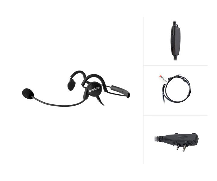 Behind-The-Head Headset with PTT47 for Icom IC-F1000 /-F2000