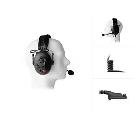 Dual Earmuff Headset for Motorola MOTOTRBO DP-Series