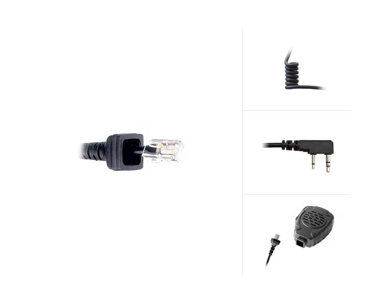 Replacement Cable for Comf. Speaker Mic to Kenwood TK-Series