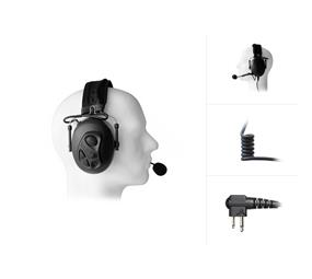 Dual Earmuff Headset for Motorola CP040 / DP1000 / GP300 ...