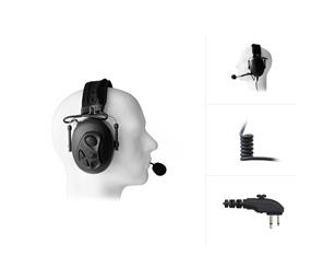 Dual Earmuff Headset for HYT/Hytera PD4- & PD5-Series
