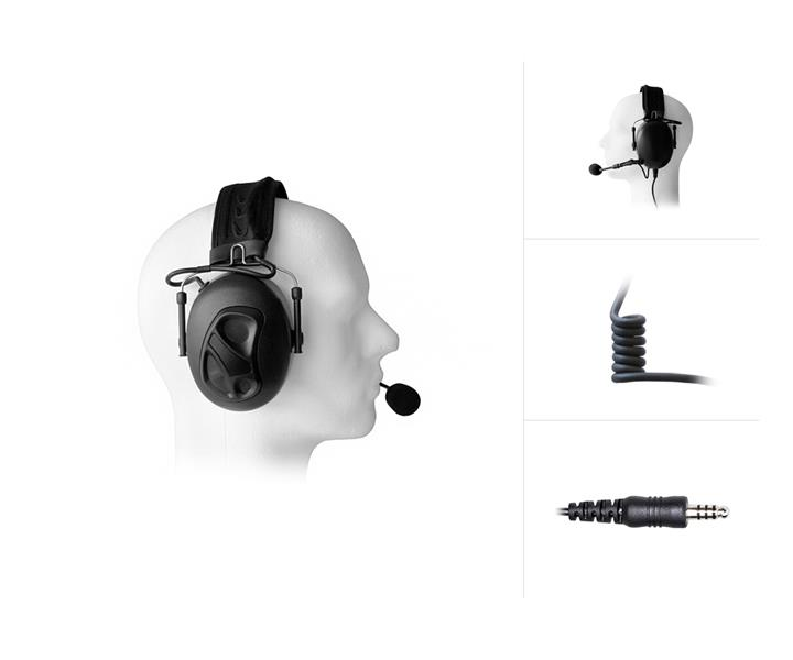 Dual Earmuff Headset with Noise Cancelling for Savox / Nexus