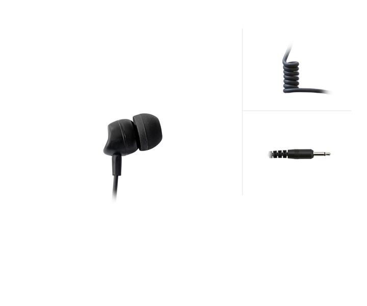 Single Ear-Bud for several Audio Solutions (3.5 mm / 2-pole)